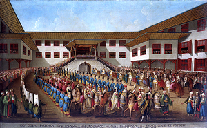 Poland–Turkey relations - Procession of Piotr Potocki, the last envoy of the Polish-Lithuanian Commonwealth in Istanbul in 1790.