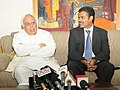 Kapil Sibal briefing the media about the two Five Year Integrated Management Programme to be started by AICTE from 2012-13, in New Delhi on April 12, 2012.jpg
