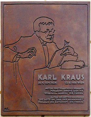 Karl-Kraus-Tafel am Geburtshaus