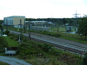 Traction substation - Karlsruhe traction current converter plant