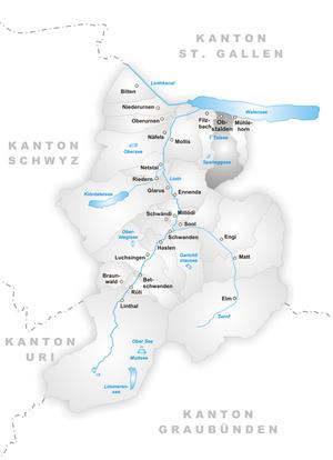 Obstalden - Image: Karte Gemeinde Obstalden
