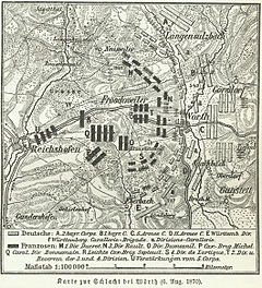 Karte zur Schlacht bei Wörth (06.08.1870)