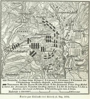 Battle of Wörth - Image: Karte zur Schlacht bei Wörth (06.08.1870)