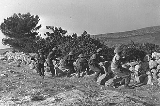 1947–1948 civil war in Mandatory Palestine - Jewish militants at Katamon, Jerusalem.