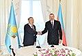 "Kazakh President Nursultan Nazarbayev presented with ""Heydar Aliyev"" Order 4.jpg"