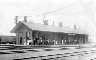 Riverdale, Chicago - Kensington station on the Illinois Central Railroad in 1852 at what is now the north tip of the Riverdale community area.