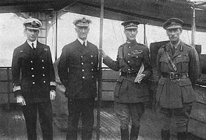Naval operations in the Dardanelles Campaign - Sir Roger Keyes, Vice-Admiral De Robeck, Sir Ian Hamilton, General Braithwaite.