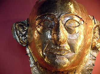 Khaemweset - Gold mask with the likeness of Khaemweset from the Apis bull burial.