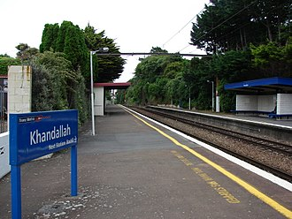 Khandallah railway station - From the station platform, looking south.