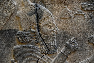 Sam'al - King Barrekub prays in front of divine symbols. Detail of a stele from Sam'al. 8th century BC. Museum of the Ancient Orient, Istanbul