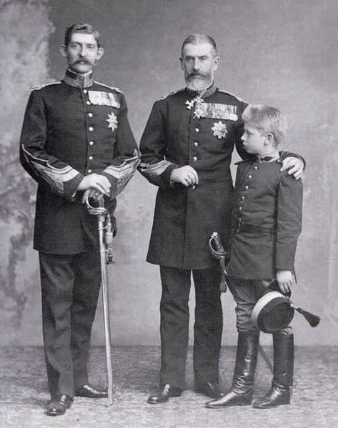 File:King Carol I of Romania with his nephew and great nephew.jpg