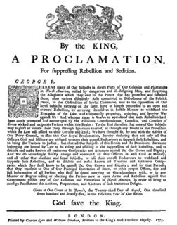 Proclamation of Rebellion