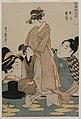 Kitagawa Utamaro - Oshichi and Kichisaburo (from the series Music on the Theme of Constancy in - 1921.352 - Cleveland Museum of Art.jpg