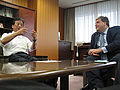 Kiyoshi Kurokawa and Eric Hargan 20070711.jpg