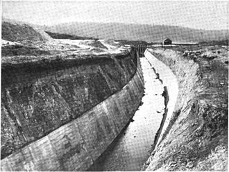 Klamath Project - Klamath Project main canal, as depicted in the 1908 Report of the Oregon Conservation Commission.