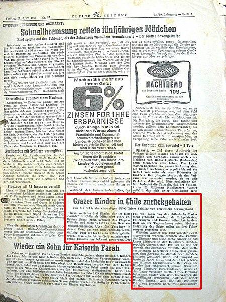 datei kleine zeitung vom 29 april 1966 seite wikipedia. Black Bedroom Furniture Sets. Home Design Ideas