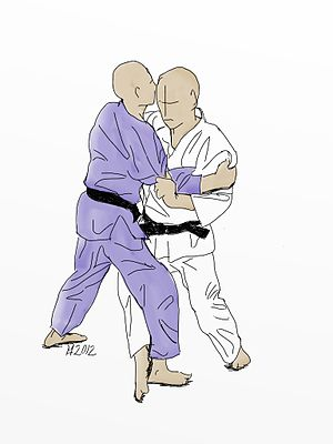 Kouchi gari - Illustration of Ko-uchi-gari Judo throw