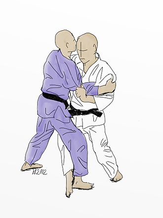Kouchi gari - Illustration of Ko-uchi-gari Judo throw