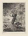 Koe bij een knotwilg Landschappen (serie B) (serietitel), RP-P-OB-24.241.jpg