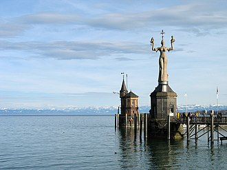 Konstanz - The Imperia at the Lake Constance harbour of Konstanz is the city's famous landmark