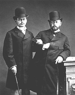 Violin Concerto (Tchaikovsky) - Tchaikovsky (right) with violinist Iosif Kotek