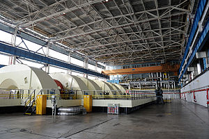 Industry of Bulgaria - Image: Kozloduy Nuclear Power Plant Machine Room of Unit 5