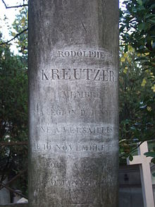 Grabstein von Rodolphe Kreutzer auf dem Pariser Cimetière du Père-Lachaise (Quelle: Wikimedia)