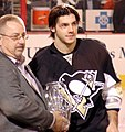 Kris Letang Penguins Rookie of the Year 2008-04-02.JPG