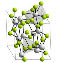 Kristallstruktur von Neptunium(III)-fluorid