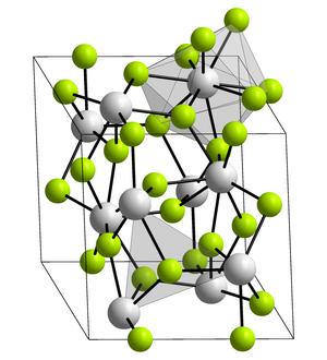 Actinium fluoride - Image: Kristallstruktur Lanthanfluorid