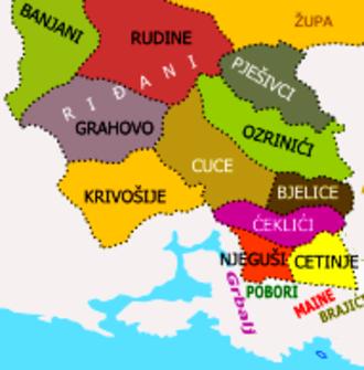 Krivošije - Historical tribes in southwestern Montenegro