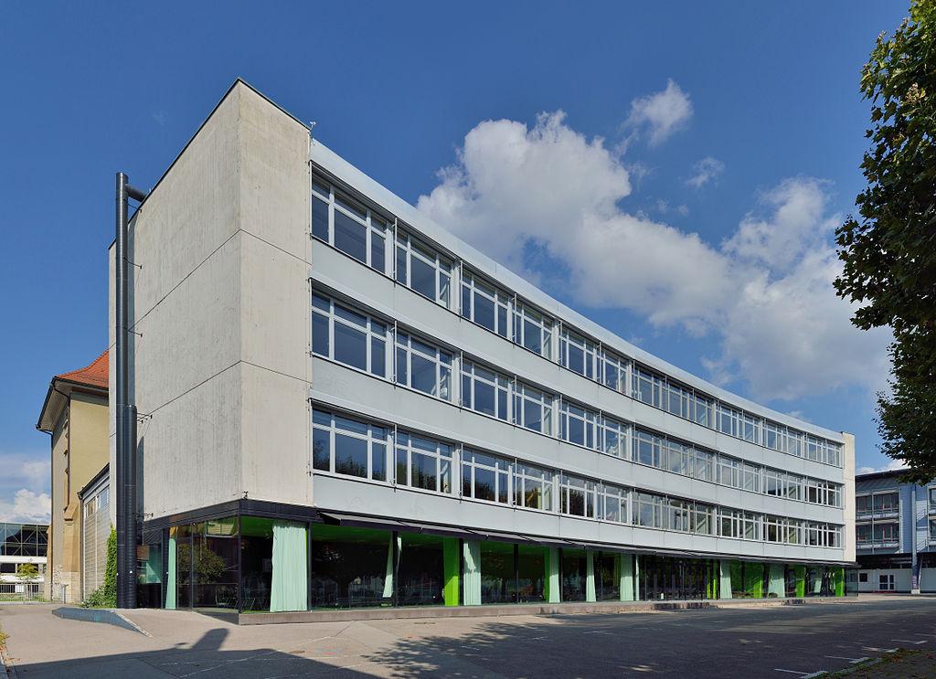 Lörrach - Hans-Thoma-Gymnasium - Erster Anbau Hofseite
