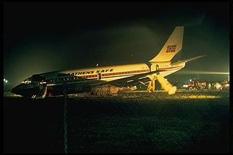 Kristiansand Airport, Kjevik - An accident from Braathens SAFE Boeing 737-200 in 1977