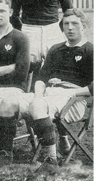 Louis Moritz Speirs - L M Speirs with the Scotland national rugby union team for their 16-10 win over England on 21 March 1908.
