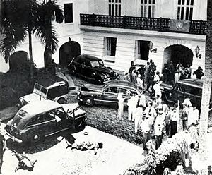 Puerto Rican Nationalist Party revolts of the 1950s - The bodies of Nationalists Carlos Hiraldo Resto and Manuel Torres Medina lie on the ground