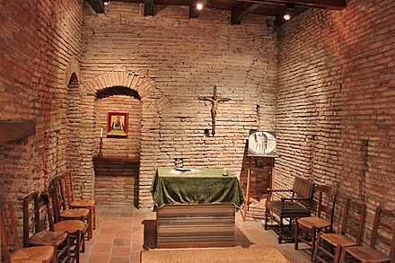 Saint Dominic's room at Maison Seilhan, in Toulouse, is considered the place where the Order was born. La chambre de Saint Dominique (maison Seilhan) - panoramio.jpg