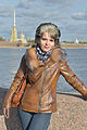 Lady on Neva river Saint Petersburg.jpg