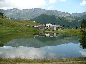 Chamois, Aosta Valley - Image: Lago di Lod