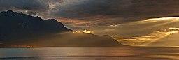 Lake Geneva after storm