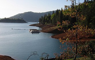 Whiskeytown–Shasta–Trinity National Recreation Area - Dock at Lake Shasta.