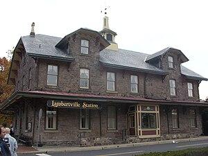 The former Lambertville Station in Lambertvill...
