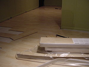 Laminate flooring - Pergo flooring project