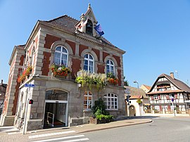 The town hall in Lampertheim