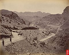 Landi Kotal Pass, with road made by Madras Sappers, 1878.jpg