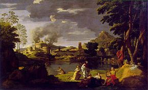 Since Orpheus and Eurydice are named, they are not staffage figures and, according to contemporary opinion, also not landscape painting.