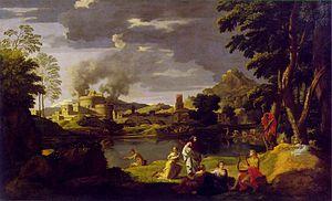 Landscape with Orpheus and Eurydice - Image: Landscape with orpheus and eurydice 1650 51