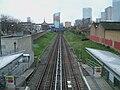 Langdon Park DLR stn high southbound.JPG