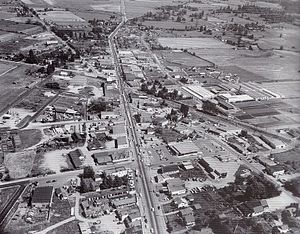 Langley, British Columbia (city) - Aerial View of Langley City in 1959
