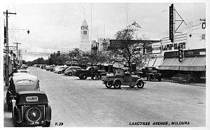 Mildura - Langtree Avenue, 1950