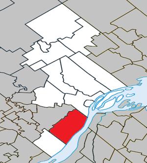 Lanoraie, Quebec - Image: Lanoraie Quebec location diagram